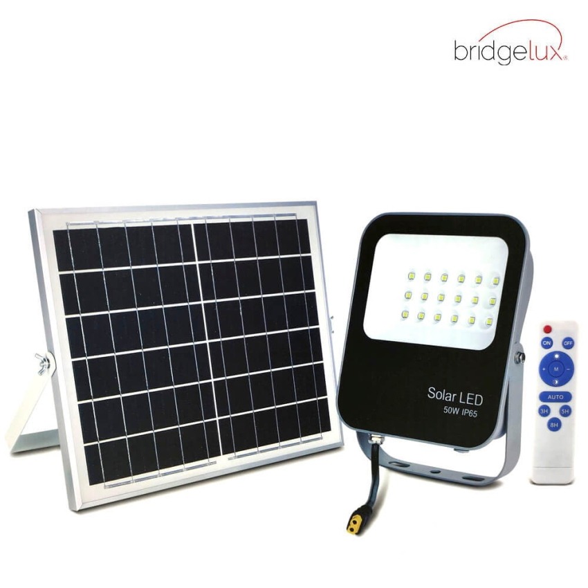 LED Projetor  Exterior SOLAR 50W IP65 6000K Avance - BRIDGELUX