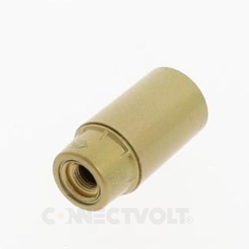 Casquilho Termoplástico E14  2A dourado