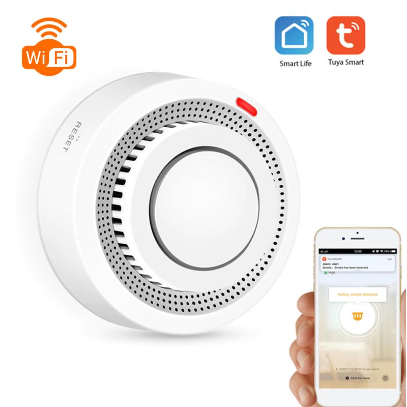 Sensor de Fumos Wi-Fi App Tuya/Smartlife