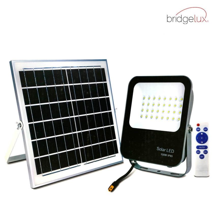 LED Projetor  Exterior SOLAR 100W IP65 6000K Avance - BRIDGELUX