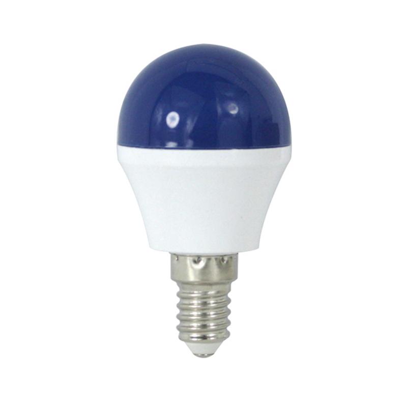 LED Lâmpada E14 G45 4W Azul Escuro