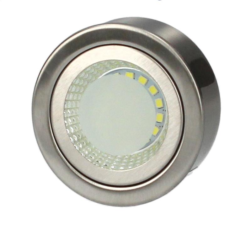 LED Spotlight 3W IP20 Ø70mm Niquel.