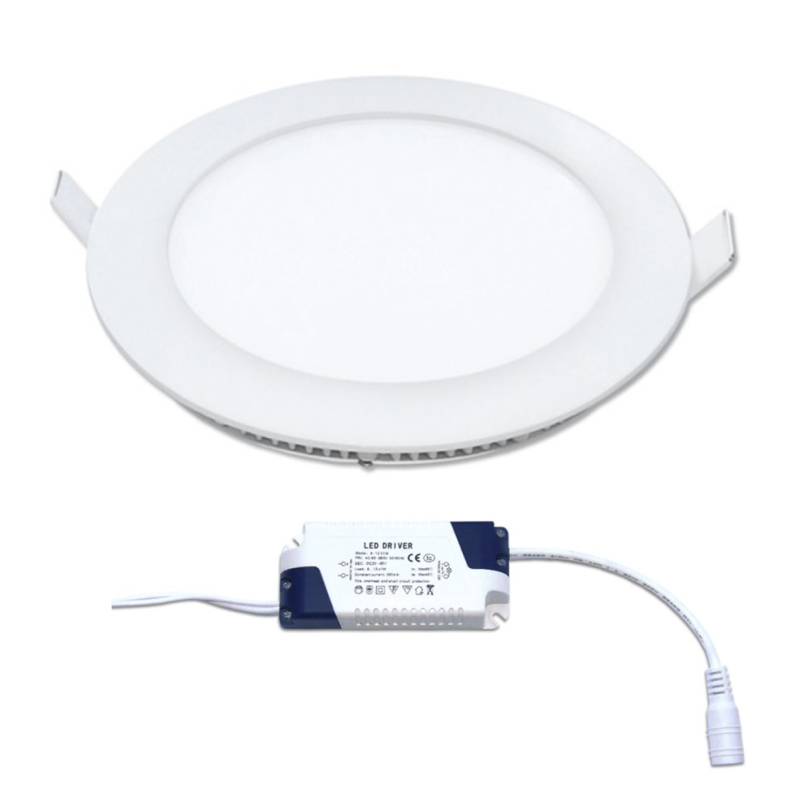 LED Painel Redondo 12W Branco