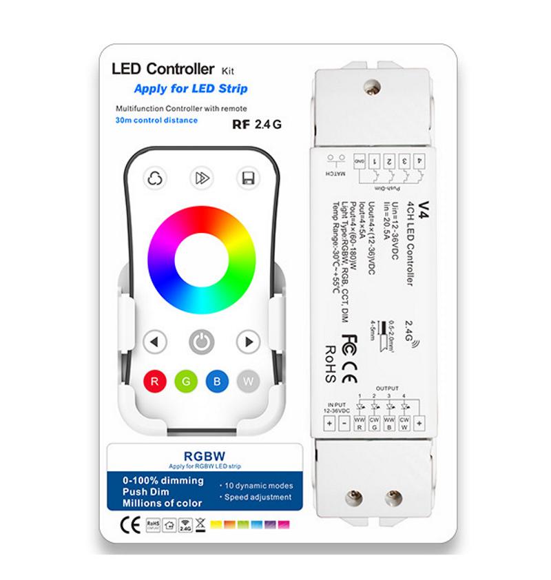 Kit LED controller 12/24VDC RGBW 240W