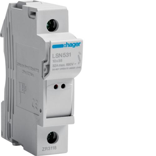 Corta-circuit. 1P 32A 400 V L31 c/sinal.