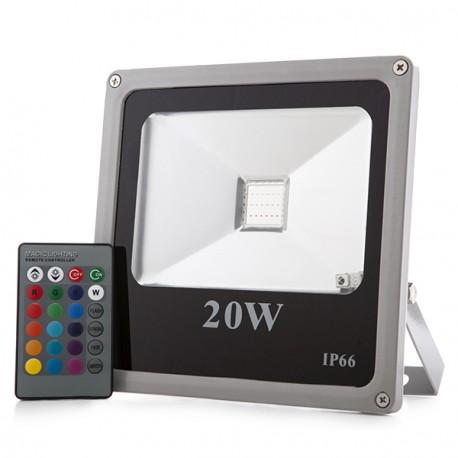 LED projetor 20W RGB IP65 c/comando