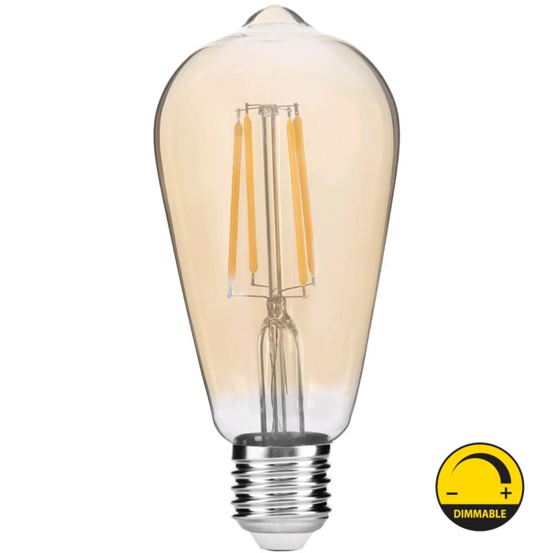 LED Lâmpada E27 ST57 8W 2400K Regulável