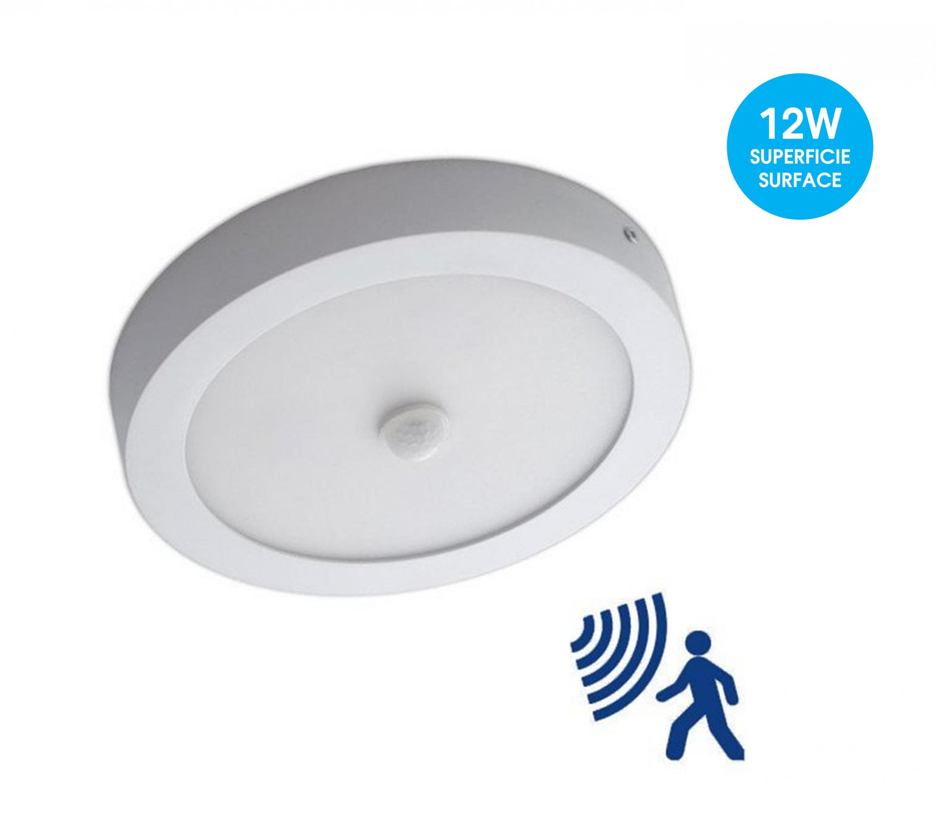 12W Painel LED Redondo c/Sensor