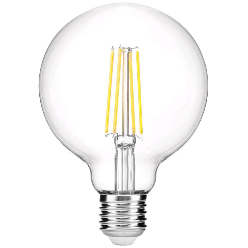 LED Lâmpada E27 G95 8W 2700k
