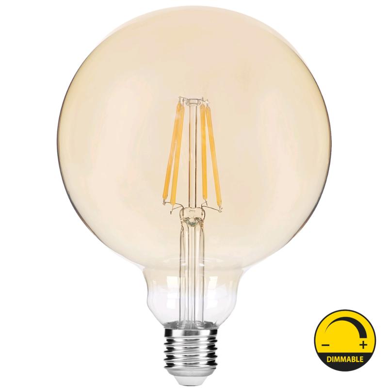 LED Lâmpada E27 G95 8W 2400K Regulável