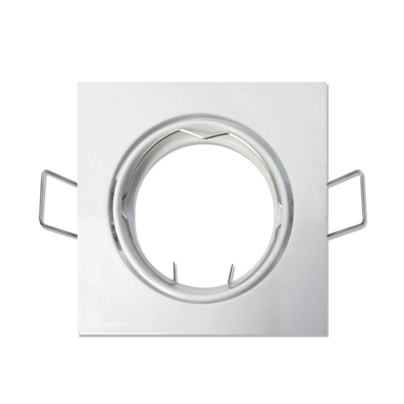 Aro Quadrado Orientável Branco IP20