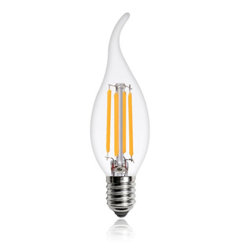 LED Lâmpada Filamentos E14 C35T 4W 3000K