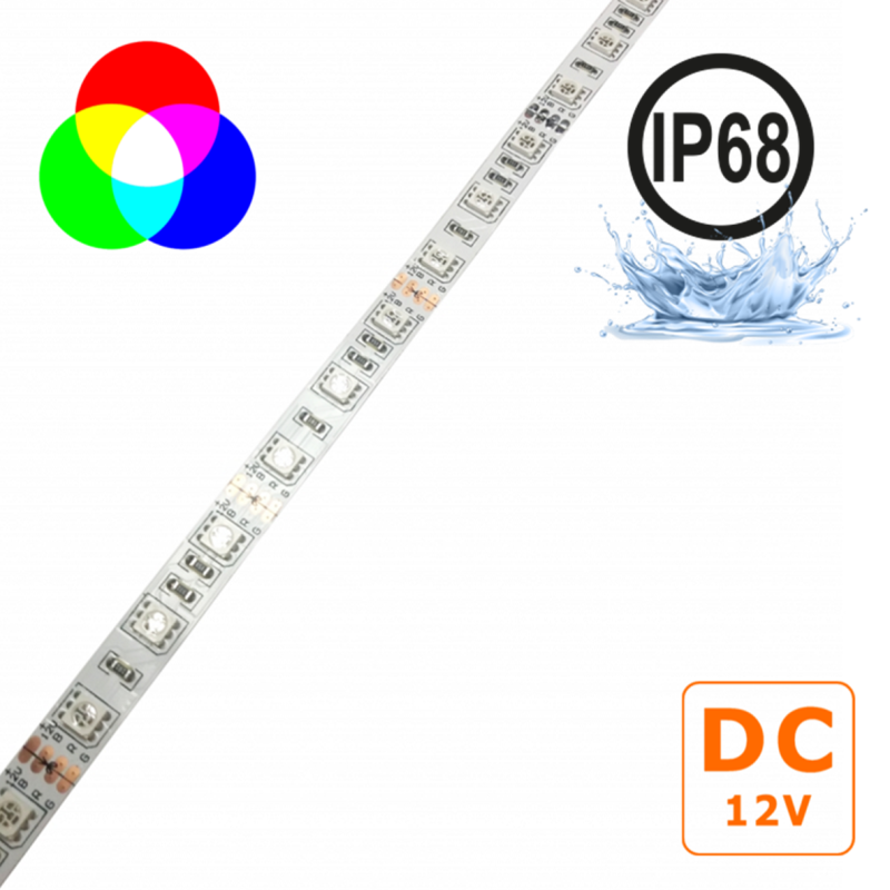Fita LED 12VDC 14,4W/m IP68 RGB