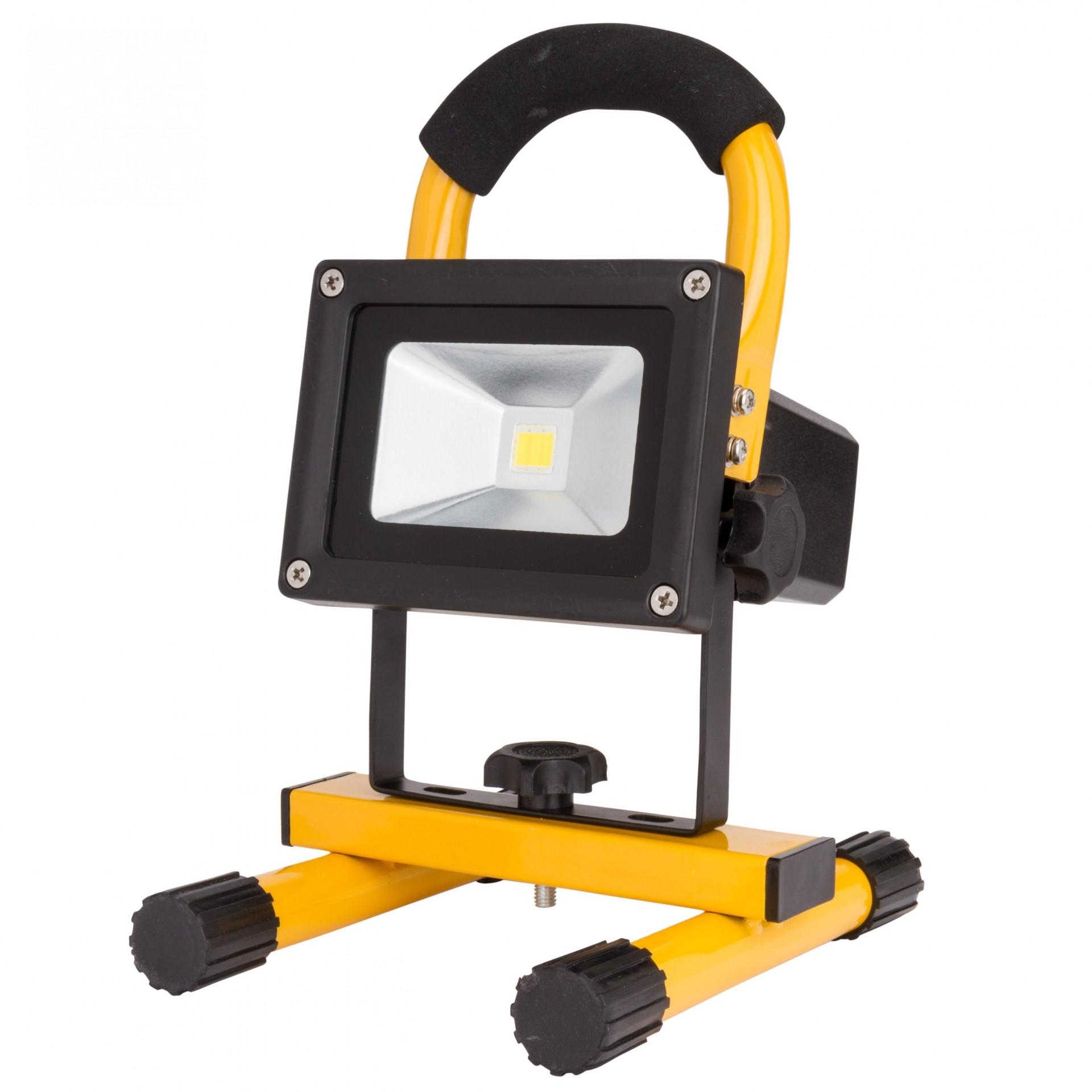 LED projetor 10W 4000K c/bateria recarregável