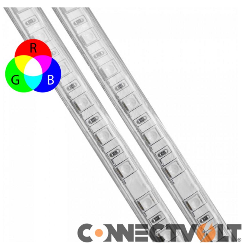 LED Fita 230VAC 14,4W RGB IP65
