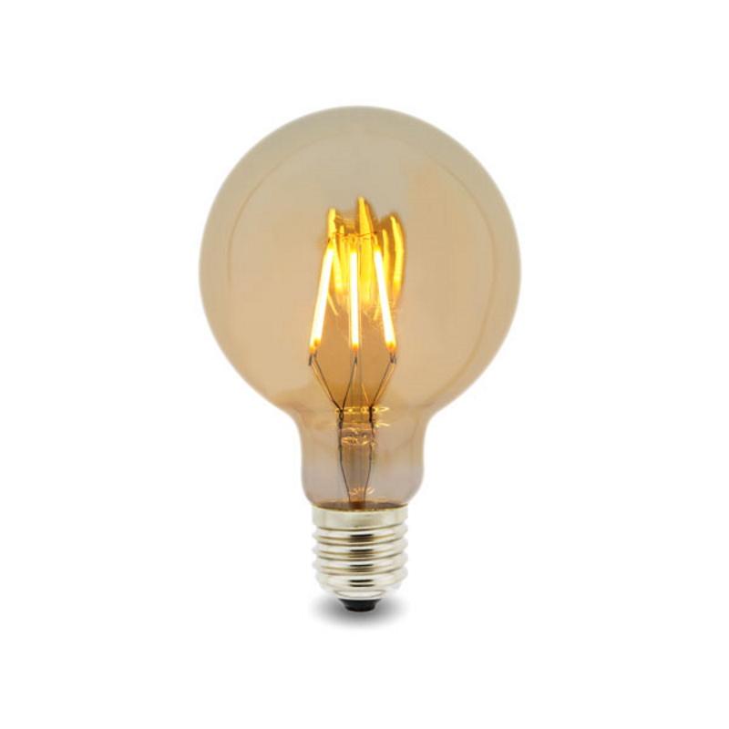 LED Lâmpada Filamentos E27 G95 6W 2300K