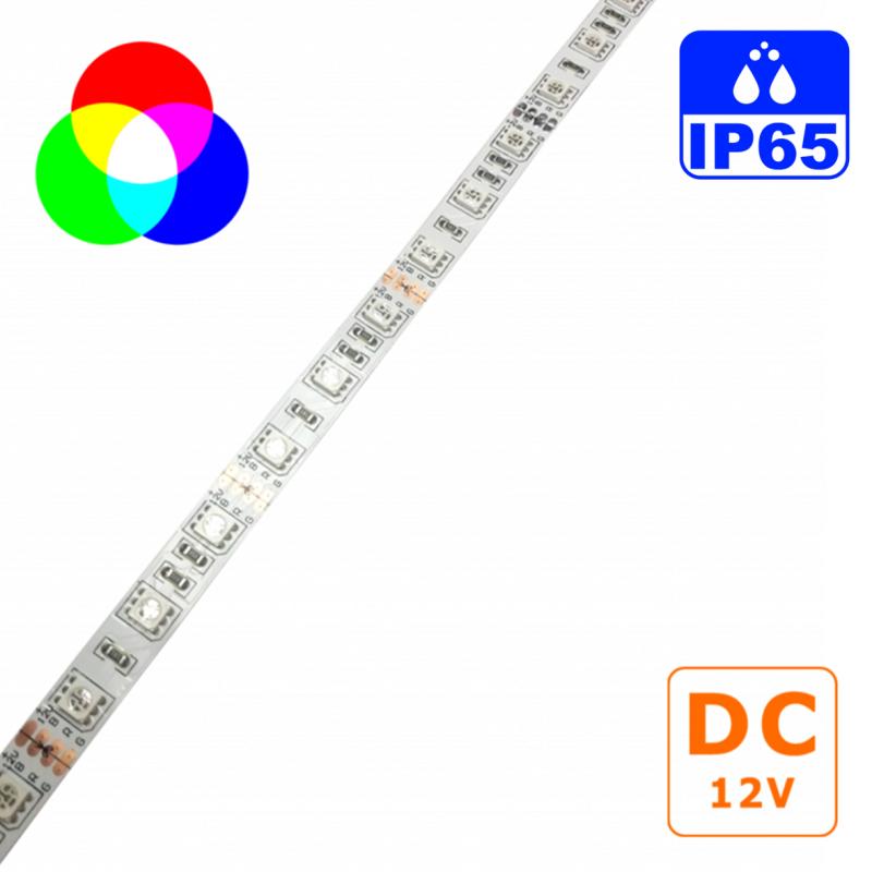 Fita LED 12VDC 14,4W/m IP65 RGB