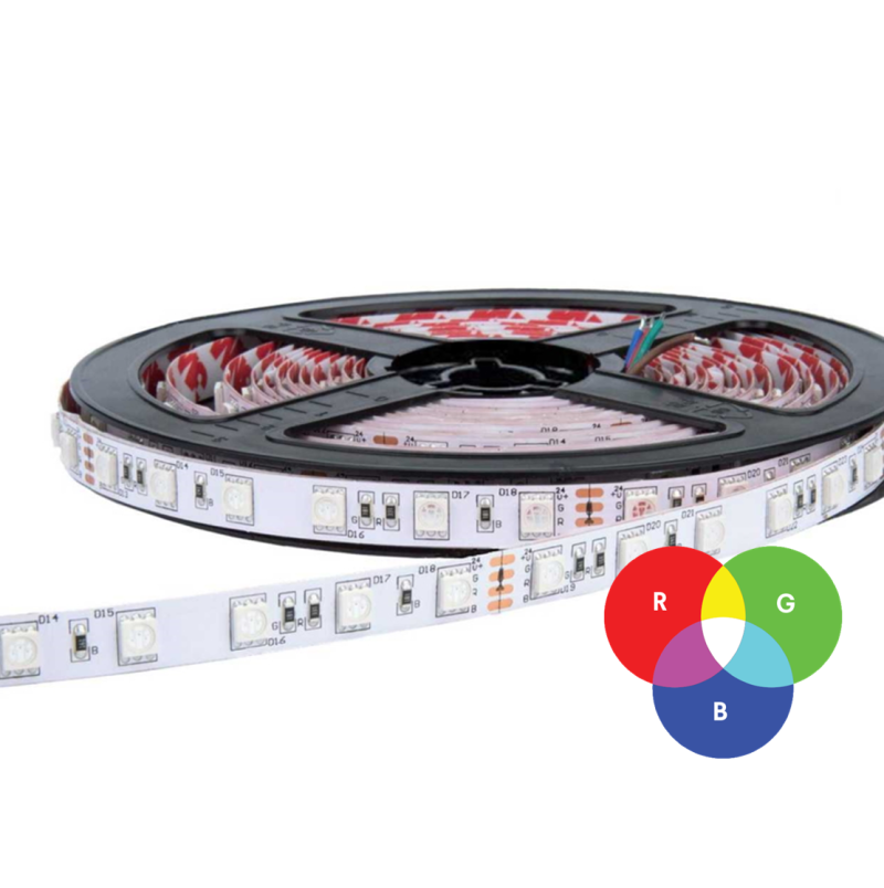 LED ProStrip 24VDC 18W/MT (90W) RGBW IP20
