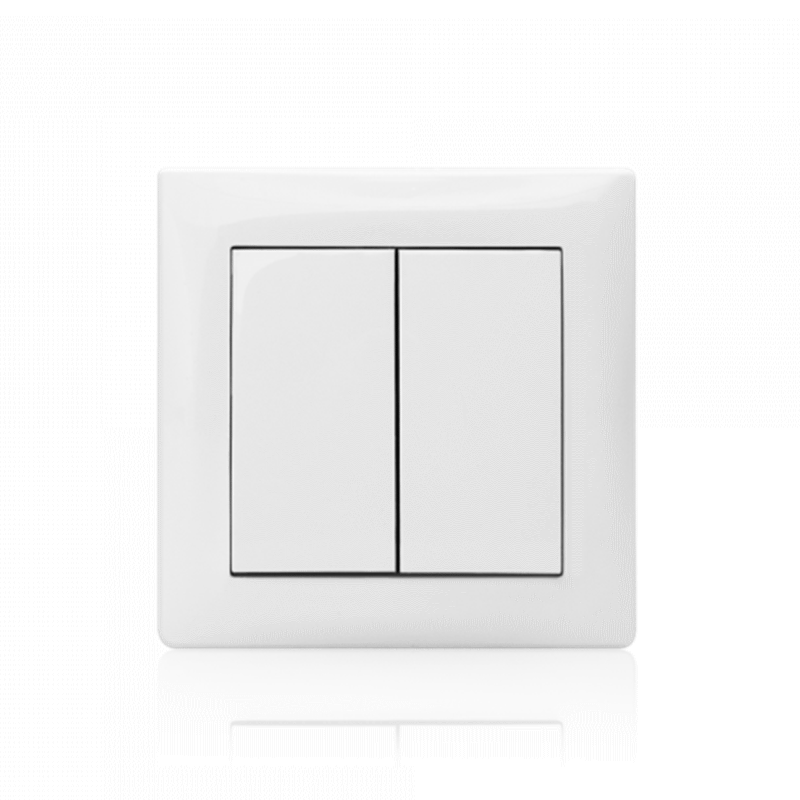 Comutador de Lustre Branco (Mecanismo + Espelho + Tecla)