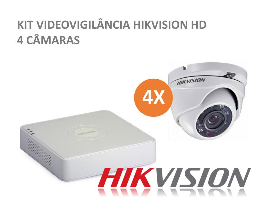 HIKVISION Kit CCTV 4 cameras