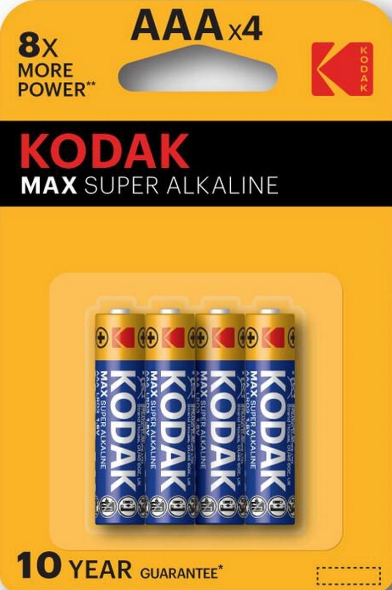 Kodak AAAx4 Alkaline LR03 1.5V