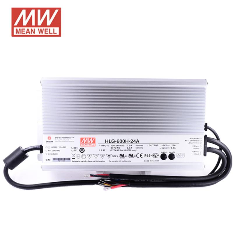 Fonte alimentação HLG 24VDC 25A 600W IP67