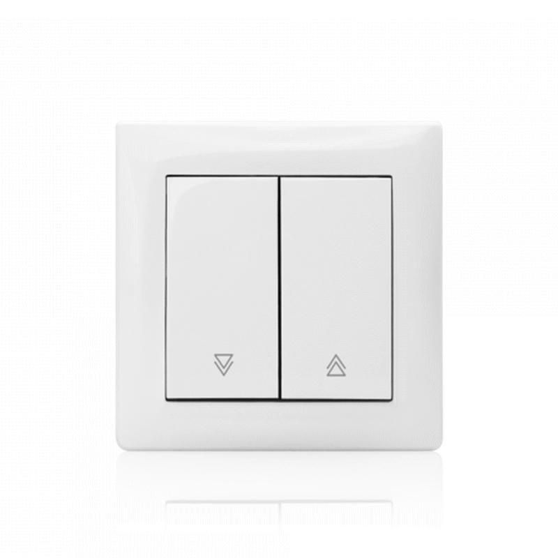 Interruptor Comando Estores (Mecanismo + Espelho + Tecla)