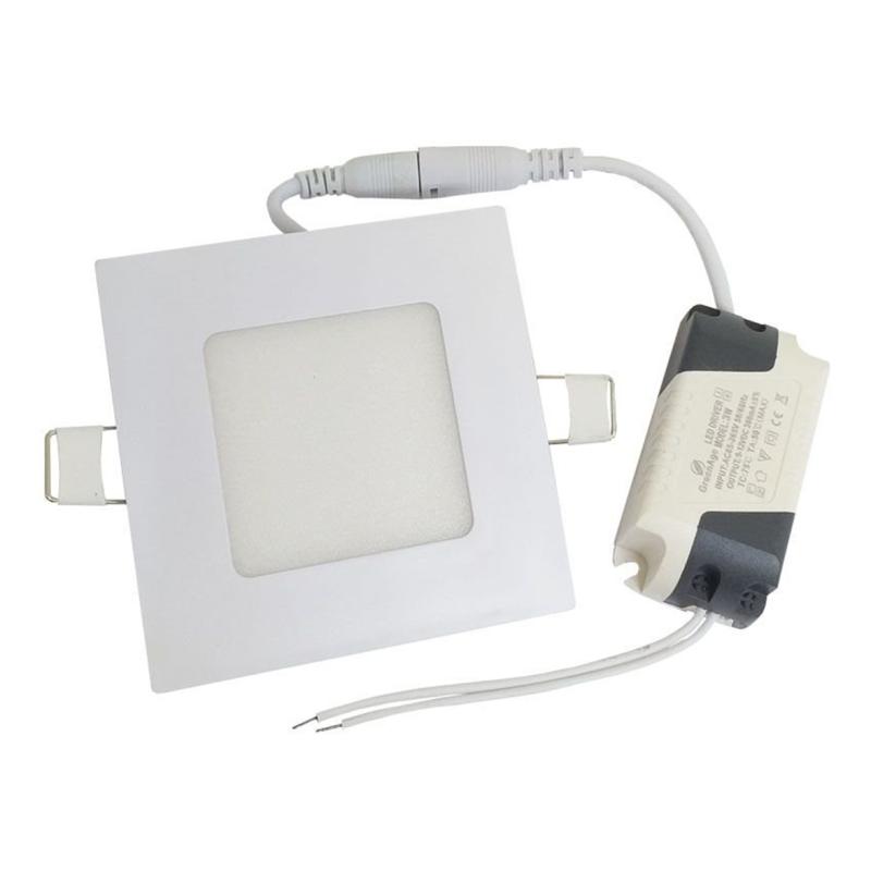 LED Downlight Quadrado 3W Branco