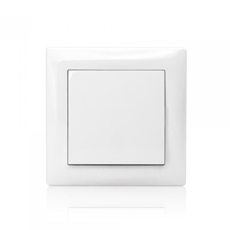 Inversor de Grupo 10A 250V Branco (Mecanismo + Espelho + Tecla)