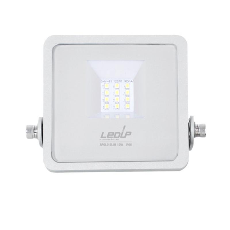 LED PRO Projetor APOLO Slim 10W IP66 Branco