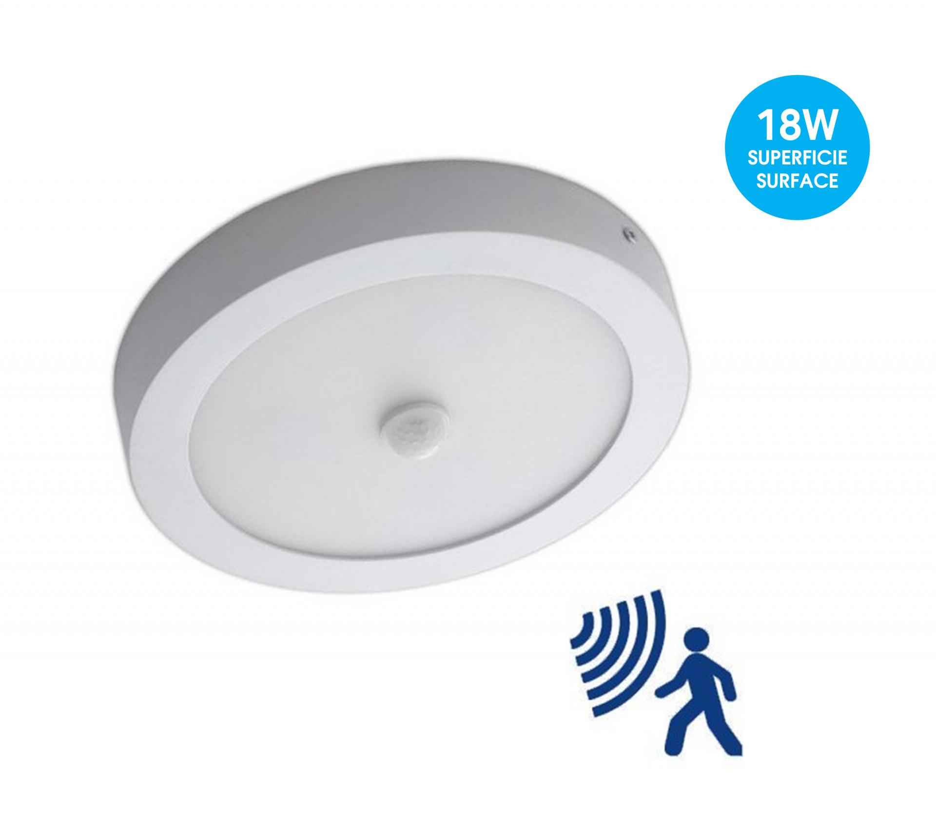 18W Painel LED Redondo c/Sensor