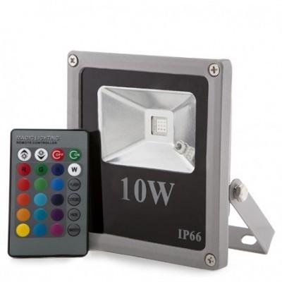 LED projetor 10W RGB IP65 c/comando