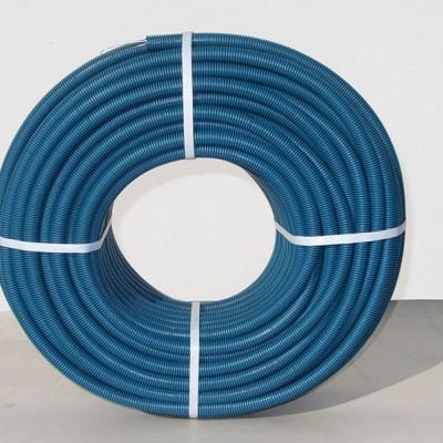Tubo Anelado Reforçado c/guia 16mm Azul