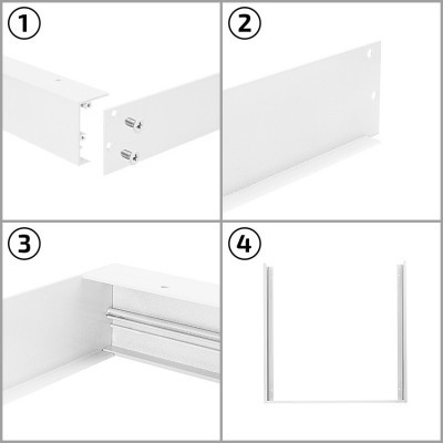 Kit Superfície Painel LED 60x60 Branco