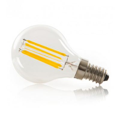 Lâmpada LED Filamentos E14 G45 4W 3000K