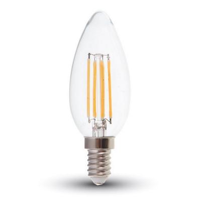 Lâmpada LED Filamentos E14 C35 4W 3000K