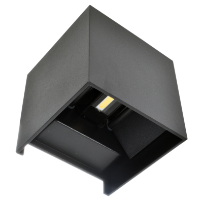 LED Aplique Cubo 6W Preto