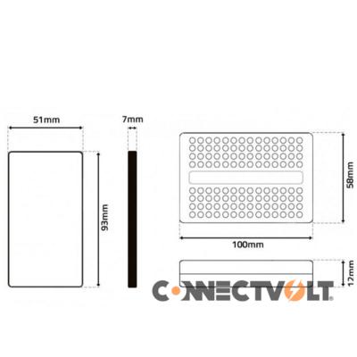 Controlador Fita LED 230VAC RGB IR