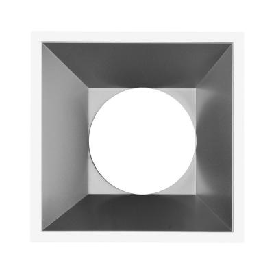 Aro Quadrado GU10 MR16 Cinza
