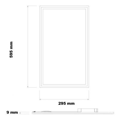 Painel LED 32W 60x30cm