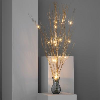 LED Ramo decorativo dourado c/bateria
