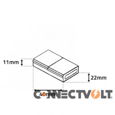 União Fita LED 230VAC 14mmx6mm