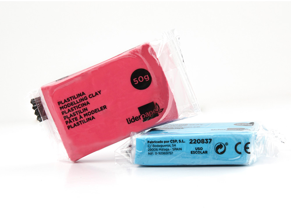 Plasticina Liderpapel Cores 50g (un)