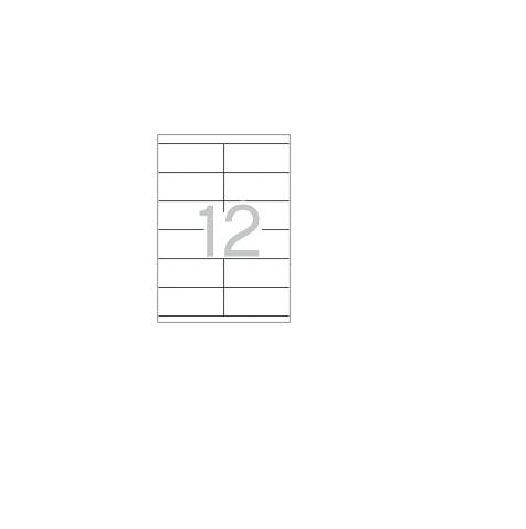 A4 105x48mm (12) Branco (100fls)