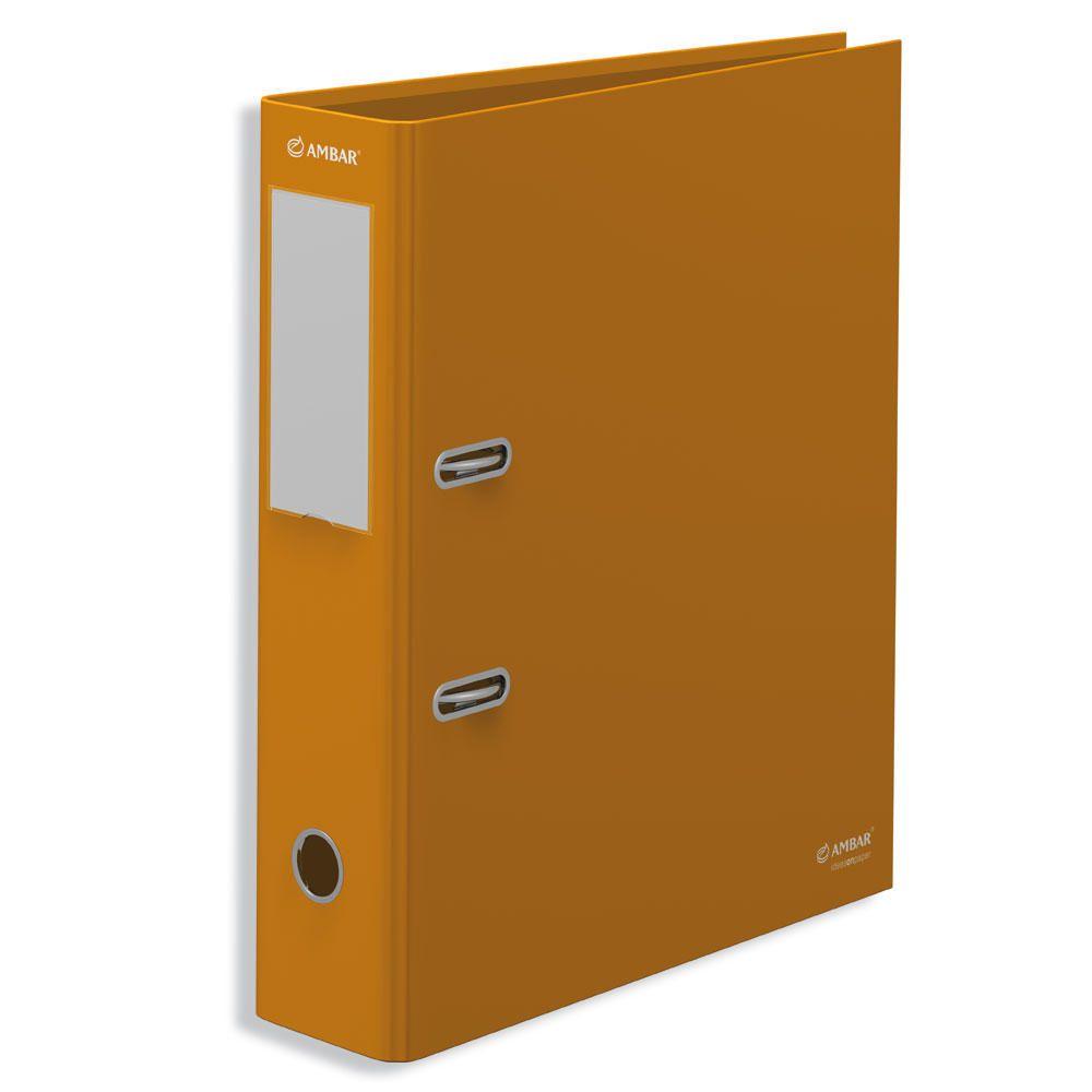 Pasta Arquivo A4 Larga (L80) Ambar Amarelo