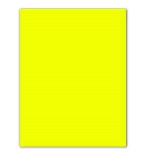 Cartolina Amarelo Fluorescente