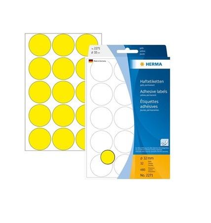 Etiq. Ad. 13x40mm Amarelo (folha)