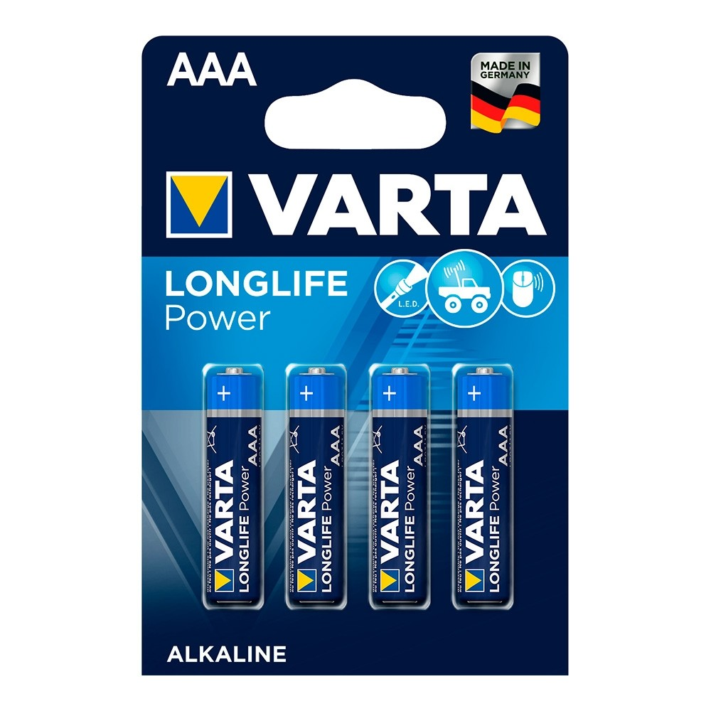 Pilha Alcalina AAA Varta - 4 Pilhas