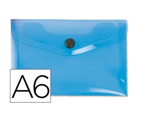 Bolsa Porta Documentos A6 c/ Mola Azul