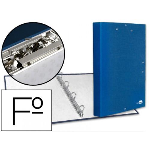 Capa A4 4 Aneis 25mm c/ Mini Clip e Elasticos Azul